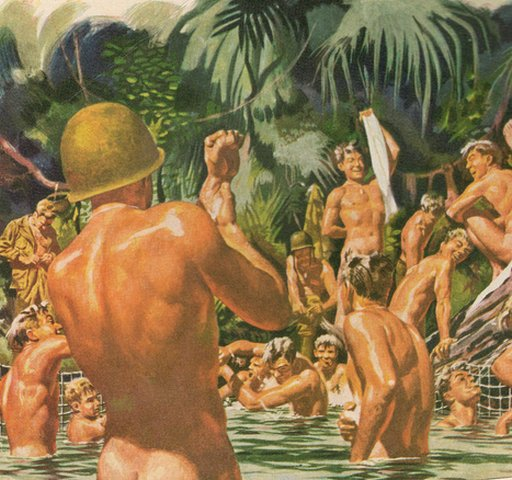 &quot;You have no #towels because #WWII is on so the #army got them, but here are some #hunky #soldiers enjoying them!&quot;  http://www. erosblog.com/2017/09/11/wel l-toweled-man-flesh/ &nbsp; … <br>http://pic.twitter.com/4XeB2KoRib