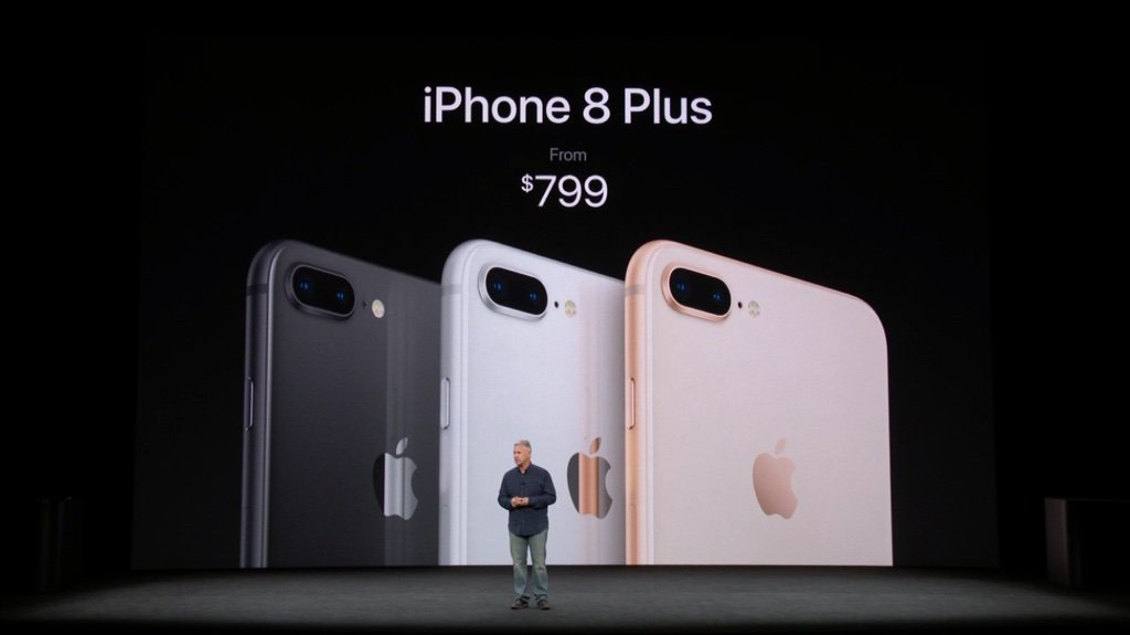 iPhone 8 Plus starts at $799 #AppleEvent https://t.co/x9sEJrqBK1