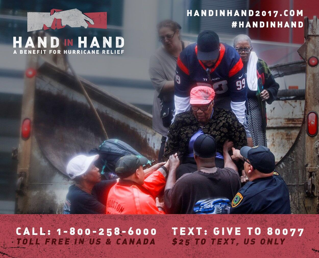 Phone lines are open. Call 1 800 258 6000 to donate by credit card. Let's do this fam. #HandInHand https://t.co/3H88RyDYd5