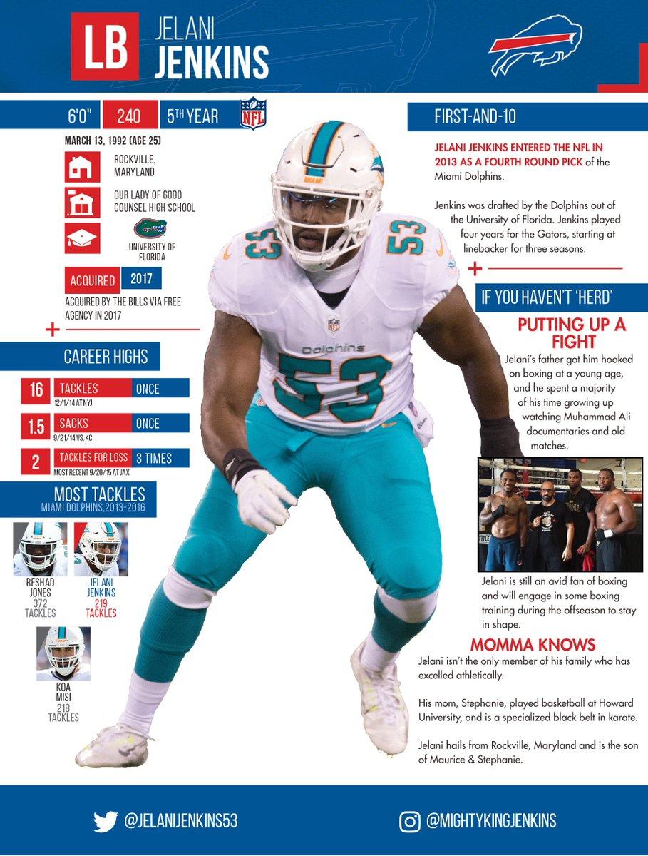 Buffalo Bills PR on Twitter: New @buffalobills LB Jelani Jenkins