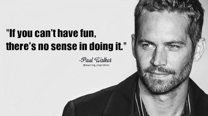 [Image] Happy Birthday Paul Walker via /r/GetMotivated