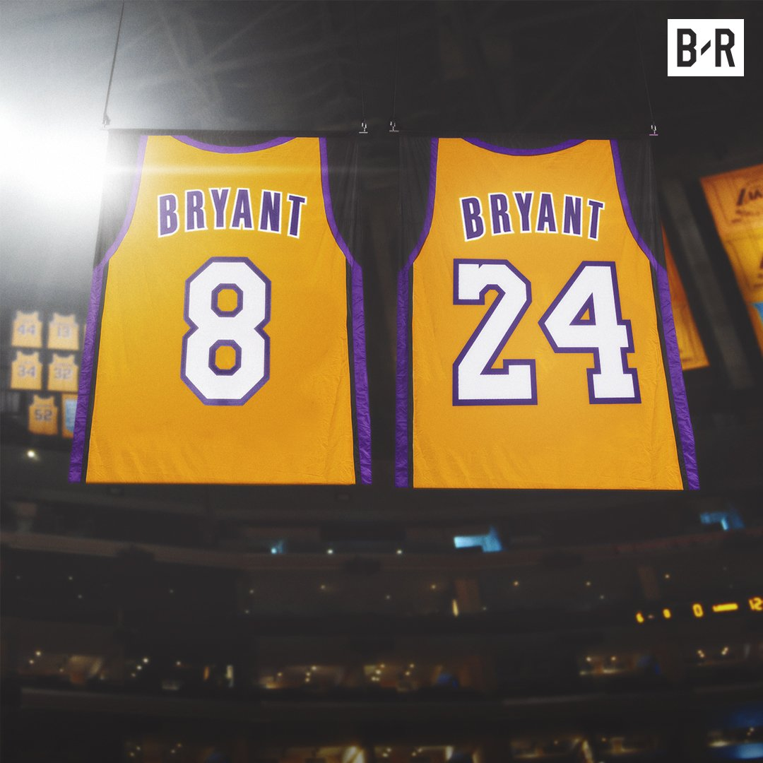 Kobe becomes the first player to have two jerseys retired for the same team.