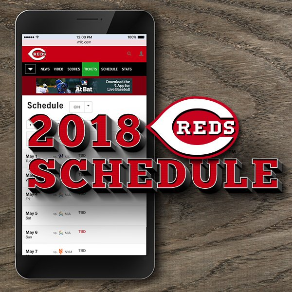 photo about Cincinnati Reds Printable Schedule called Cincinnati Reds upon Twitter: \