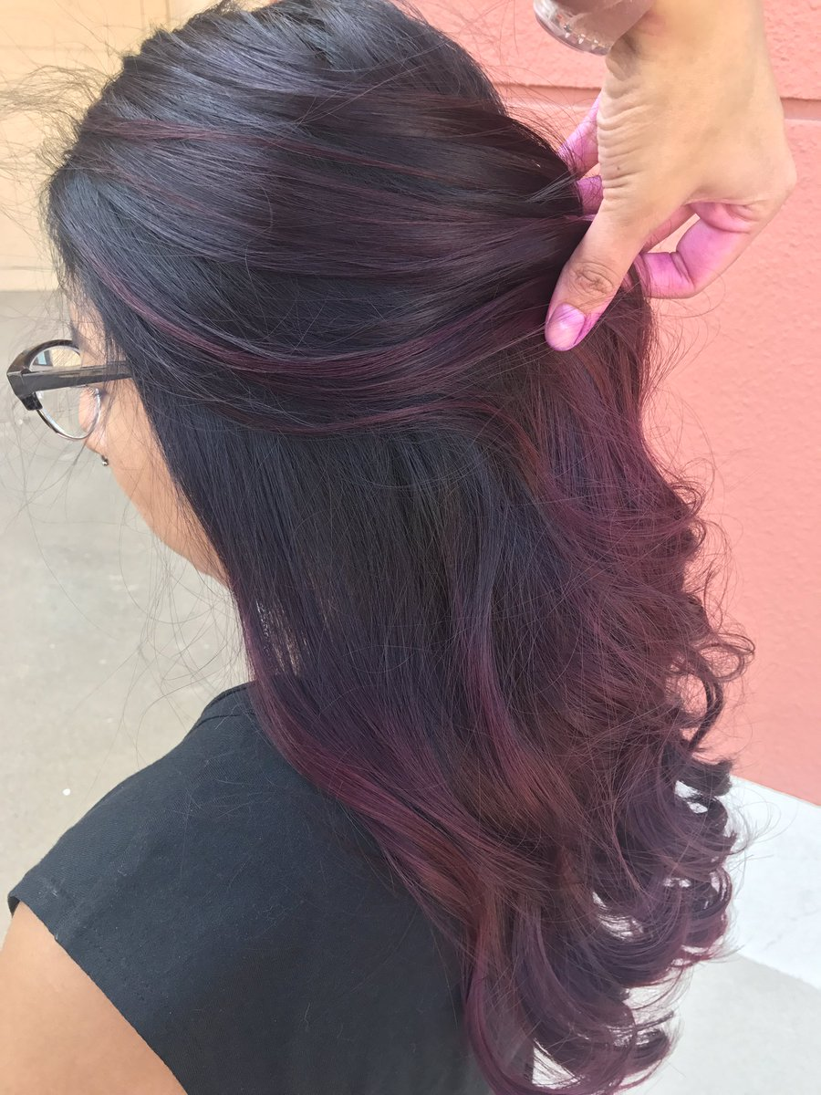 Hairbycaro On Twitter Plum Berry Joico Houstonhair Houstonhairstylist Balayage Ombre Purplehair Fallhair Behindthechair