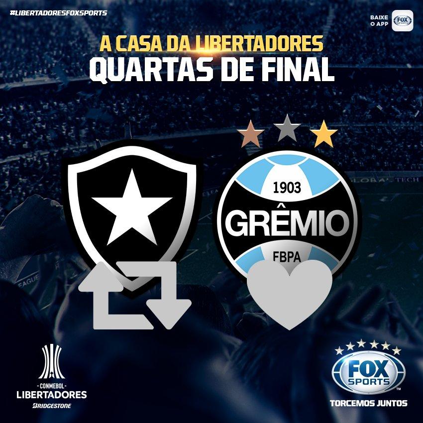 ⭐️🇪🇪 EMOÇÃO! No Nilton Santos, @BotafogoOficial e @Gremio ficam cara a cara pela #LibertadoresFOXSports! Vai dar Glorioso ou Imortal? Opine!