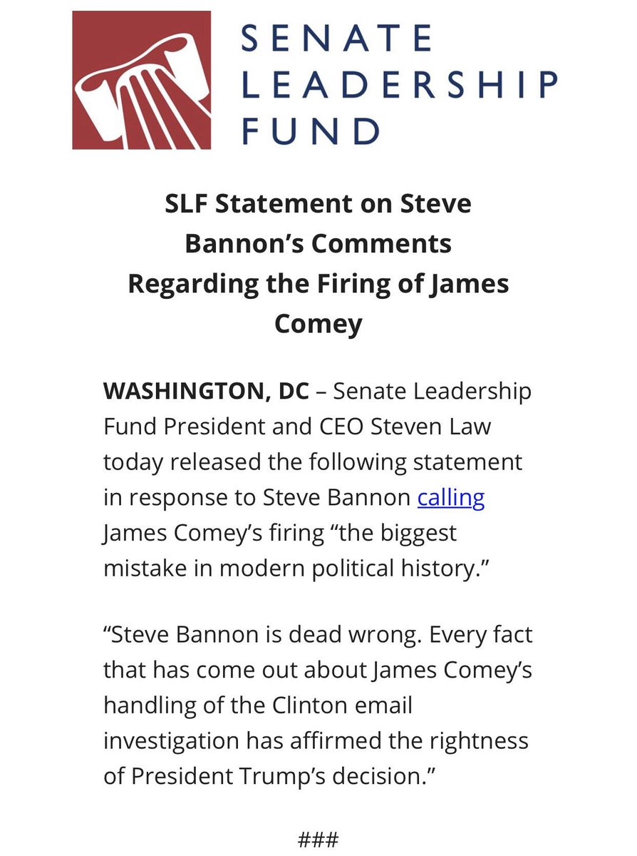 A little payback for Bannon taking on McConnell and Senate Republican incumbents...