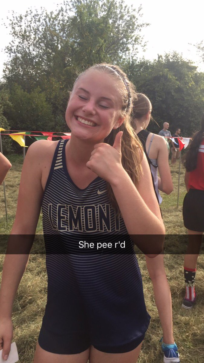 Girl pees her pants
