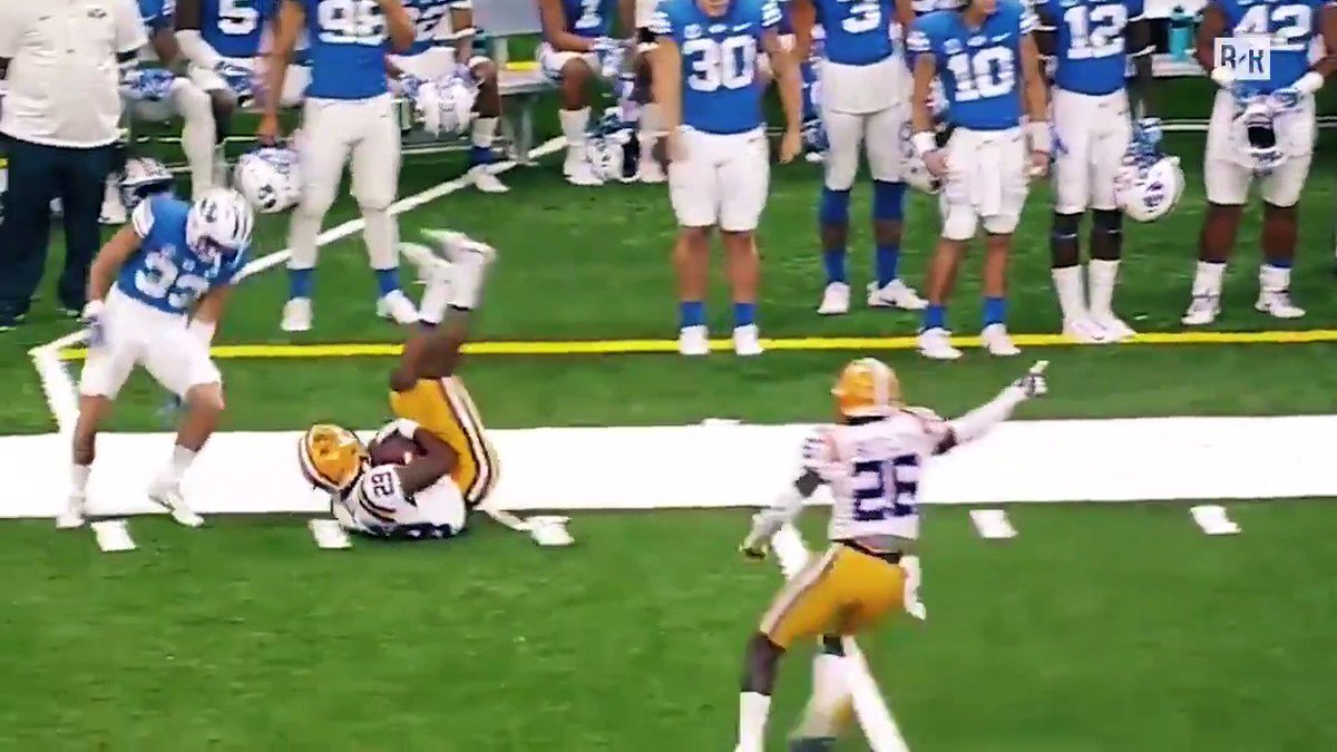 Speed. Technique. Discipline.  CB Greedy Williams is exactly why LSU continues to be DBU https://t.co/JGPoEFzQxZ