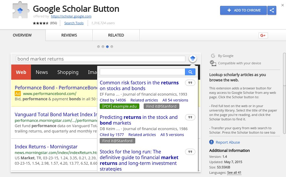 Try to use as few @googlechrome extensions as possible but just discovered #GoogleScholar extension. #gradschool #ILEdChat #EdChat<br>http://pic.twitter.com/gId7FTkoCx
