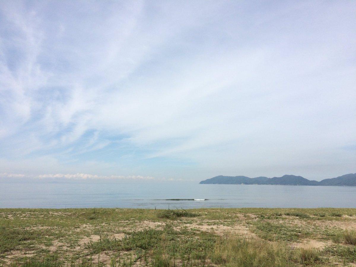 朝の虹ヶ浜✨ 気持ちよい✨  朝ラン、とんと御無沙汰 笑 https://t.co/7TzQEbORGJ