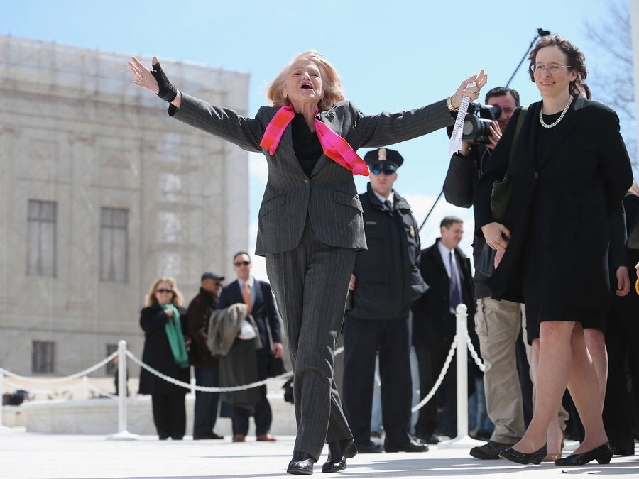 Edith Windsor helped break down barriers and secure equal rights for same-sex marriages; her story is proof that love triumphs after all.