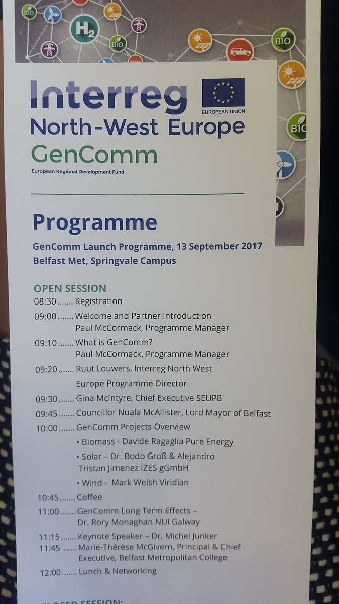 @e3_belfastmet hosts &amp;  welcomes The Lord Mayor of Belfast &amp; EU Partners to the launch of #Gencomm an Interreg North-West European Programme <br>http://pic.twitter.com/UmPR6xR5gT