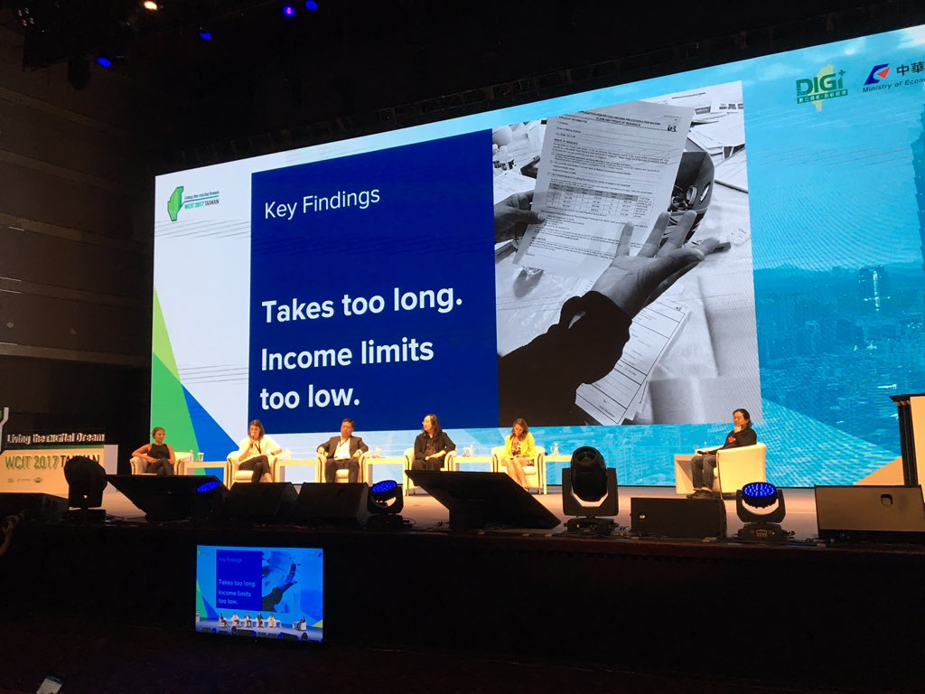 The process takes to long and the fee waiver limits were too low #WCIT2017 <br>http://pic.twitter.com/A6dUfnVo0R