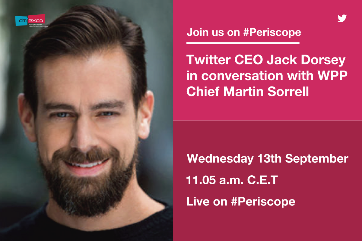 Get ready to tune in as @WPP's SIr Martin Sorrell chats to Twitter CEO...