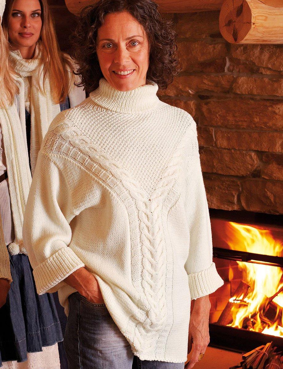 Вязание свитера спицами для женщин с описанием и схемами бесплатно
