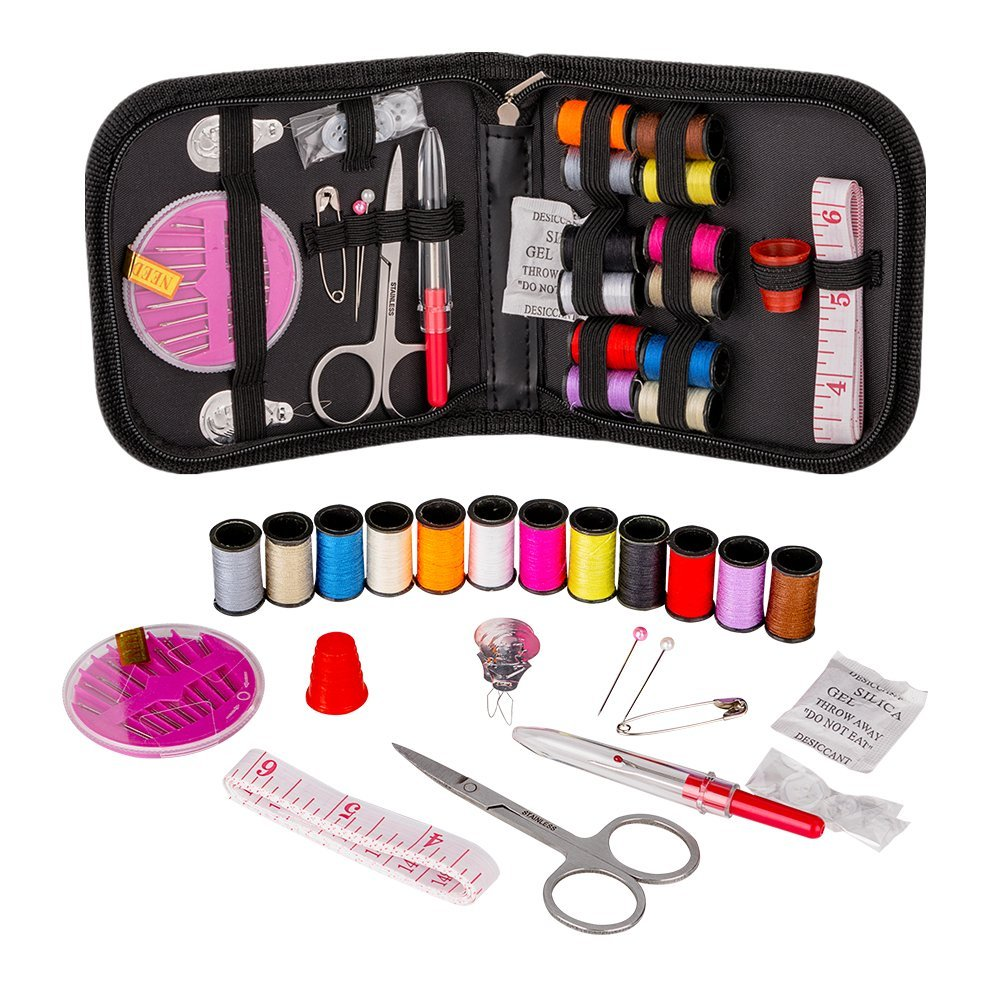 Coquimbo Mini Portable Sewing Kit Accessories Carrying Case Set for Home,...
