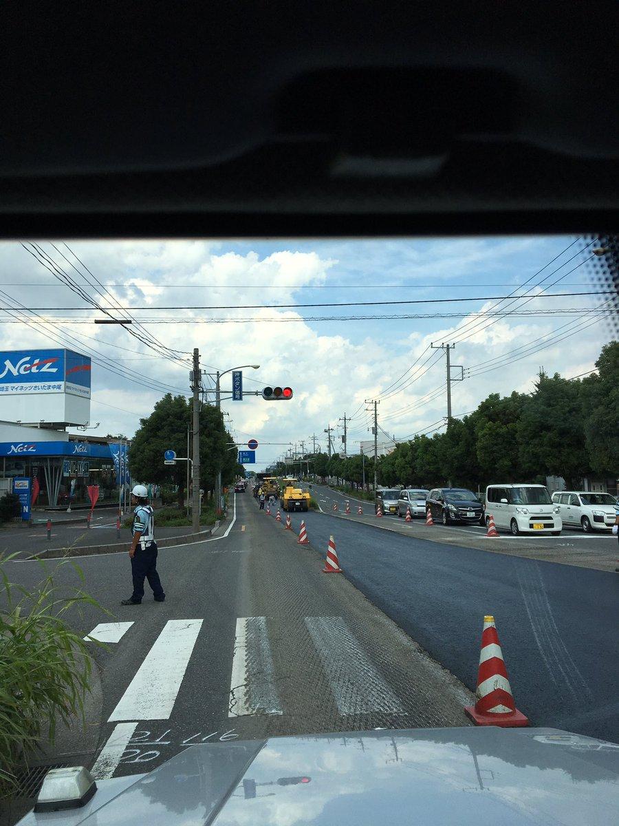駒場から、新見沼有料道路に抜ける道   舗装工事のため、相当時間がかかります  埼スタに来られる方  ご注意下さい https://t.co/LyAuDv30KI