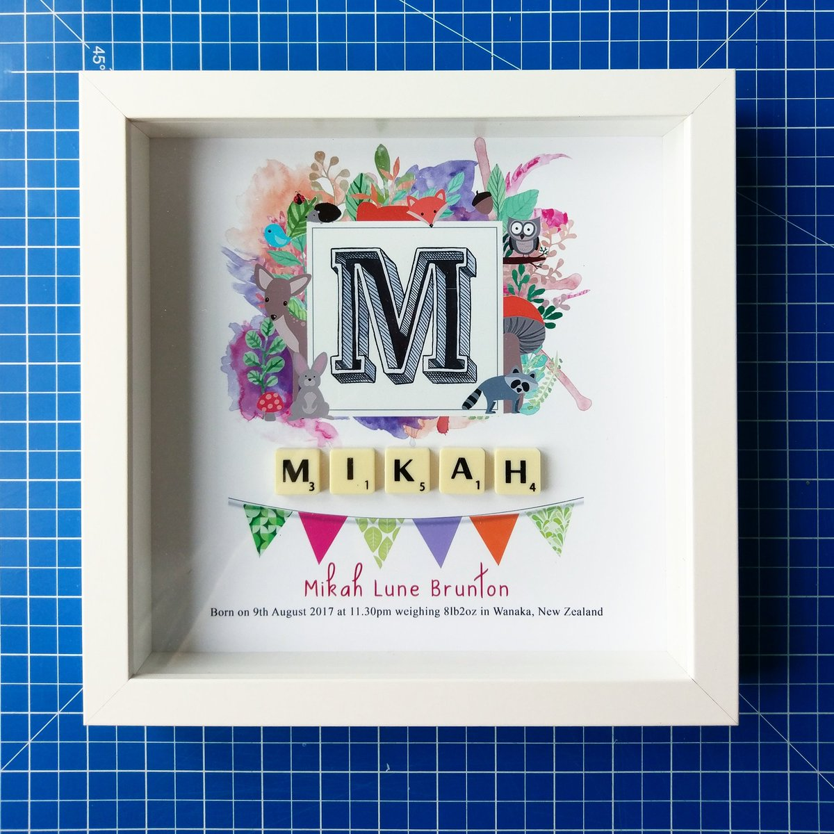 Baby girl Scrabble frame flown all the way to New Zealand  #design #graphicdesign #illustration #print #wallart  #bespoke #personalised<br>http://pic.twitter.com/RhHq8XBVrT