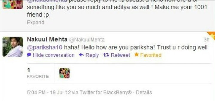 That first tweet of @NakuulMehta where I also became his 1001st friend (I hope )  July&#39;12 #PKDH #Throwback<br>http://pic.twitter.com/45aFtX6Ms0