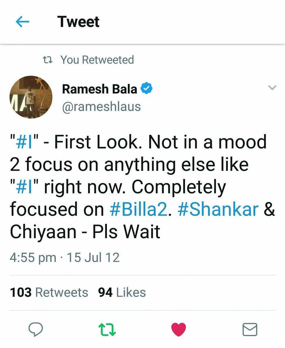 The man who trolled #Shankar sir &amp; his movie #Ai now wants his favorite star to work with him.  Insane<br>http://pic.twitter.com/xYmpYKALDA