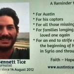 #FreeAustinTice US Journalist held captive in #Syria. 5 Years denied #HumanRights. Pray for Austin and @DebraTice.