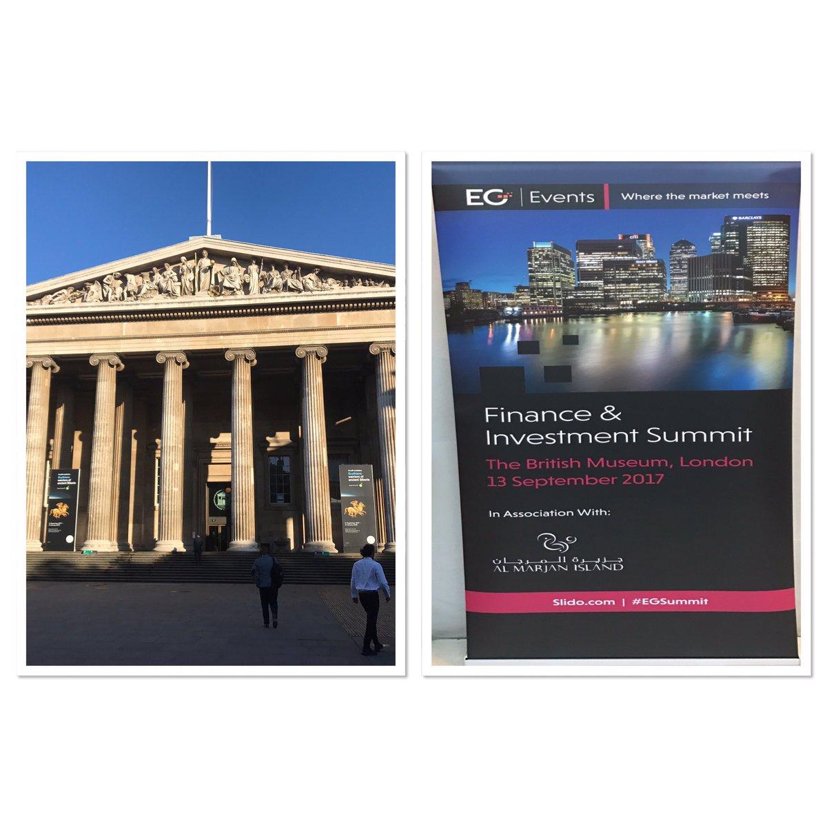 A brilliant venue for today's conference @britishmuseum @EstatesGazett...