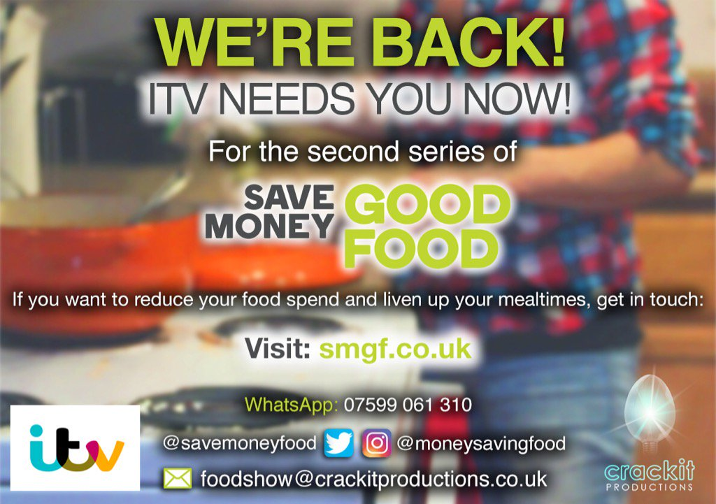 Save Money Good Food is back! https://t.co/65RGaHgiSS