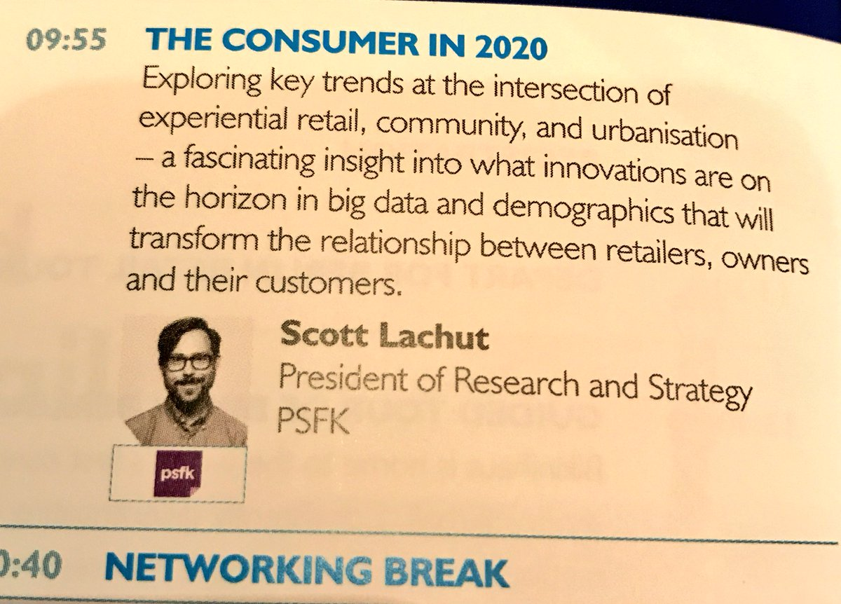 Looking forward to hearing @scottlachut on Understanding the New Consumer now at #ICSCEUROPE <br>http://pic.twitter.com/6G769DLIO8