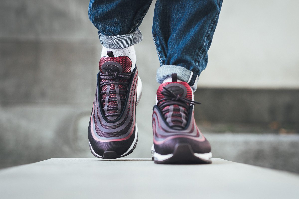 Here s a closer look at this BRED-like colourway https   thesolesupplier .co.uk news noble-red-air-max-97-ultra-17-just-went-live-at-nike-uk  ... 2d1a42af3d16