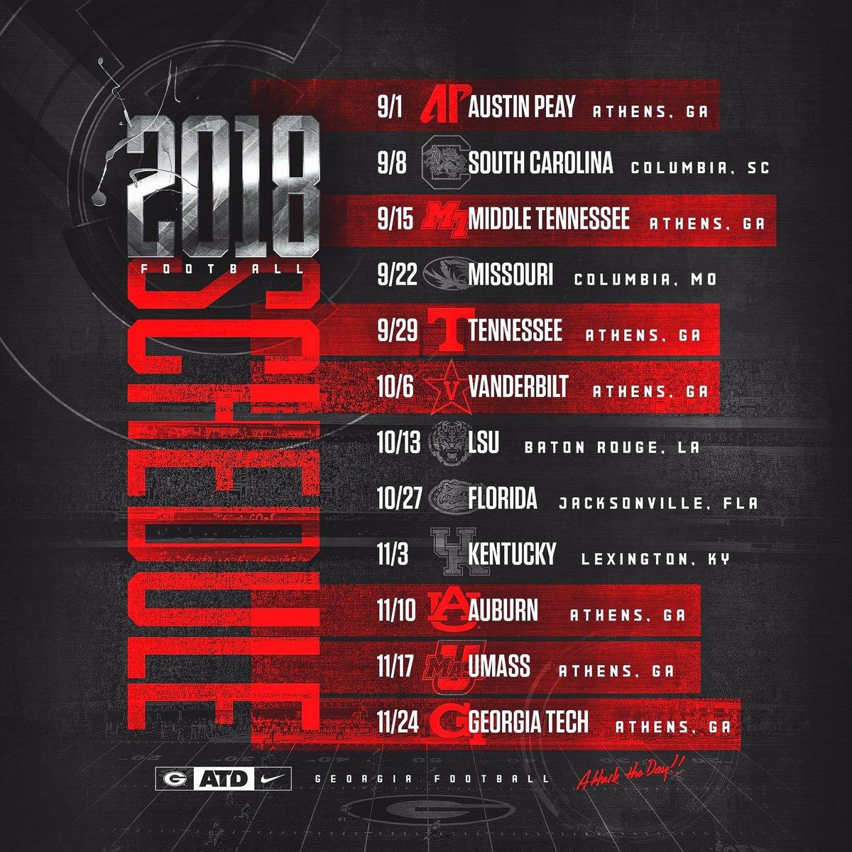 University Of Georgia 2019 Football Schedule Logan Booker on Twitter: