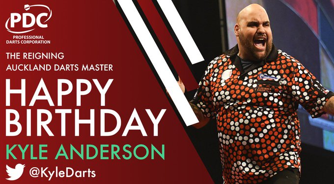 HAPPY BIRTHDAY to the reigning Auckland Darts Master Kyle Anderson, who turns 30 today!