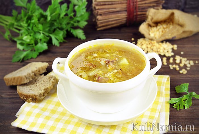 Суп гороховый рецепт с гренками