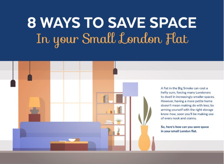 ... Your Storage Space In A Small London Flat With Our New Guide And  Infographic! ...