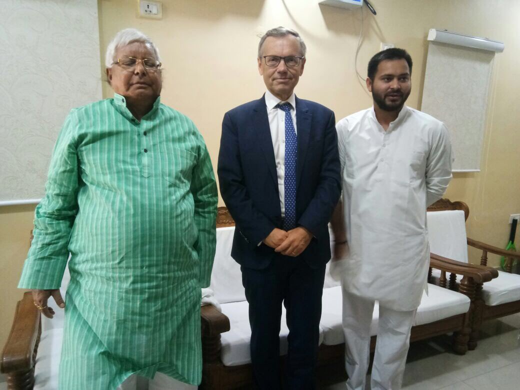 Had meaningful and informative meeting with Norway's Ambassador in India Mr. @nrkamsvaag today in Patna.pic.twitter.com/BBv81w7eYm