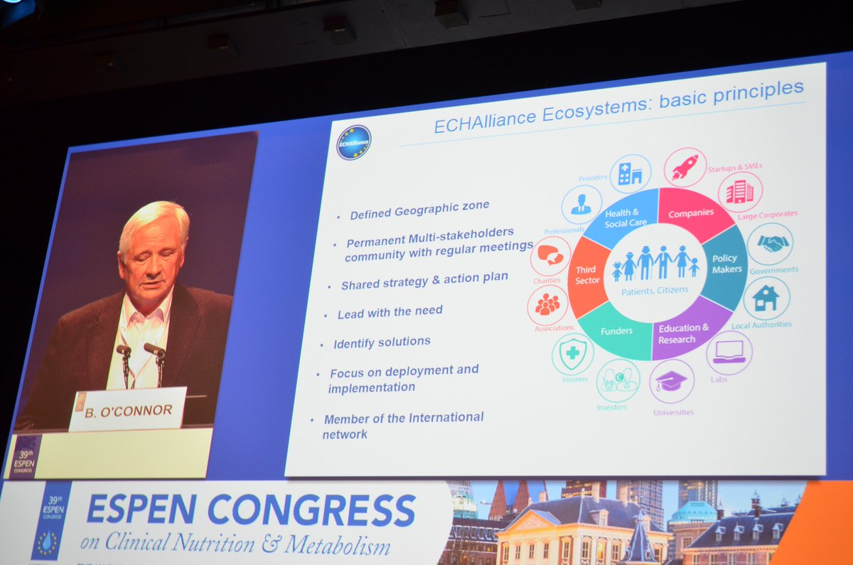 #Integrated care: eHealth can help the nutritional community to connect the dots,  Brian O&#39;connor @ECHAlliance - Joint Session #ESPEN2017 <br>http://pic.twitter.com/LBBr9ztmoI