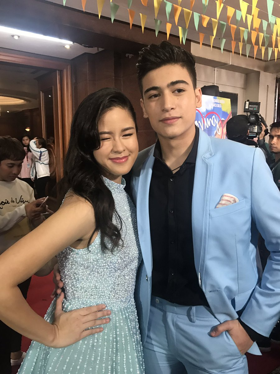 """ABS-CBN PR on Twitter: """"Kisses Delavin and Marco Gallo are present in their  first movie with Maymay and Edward. #LITSpecialScreening… """""""