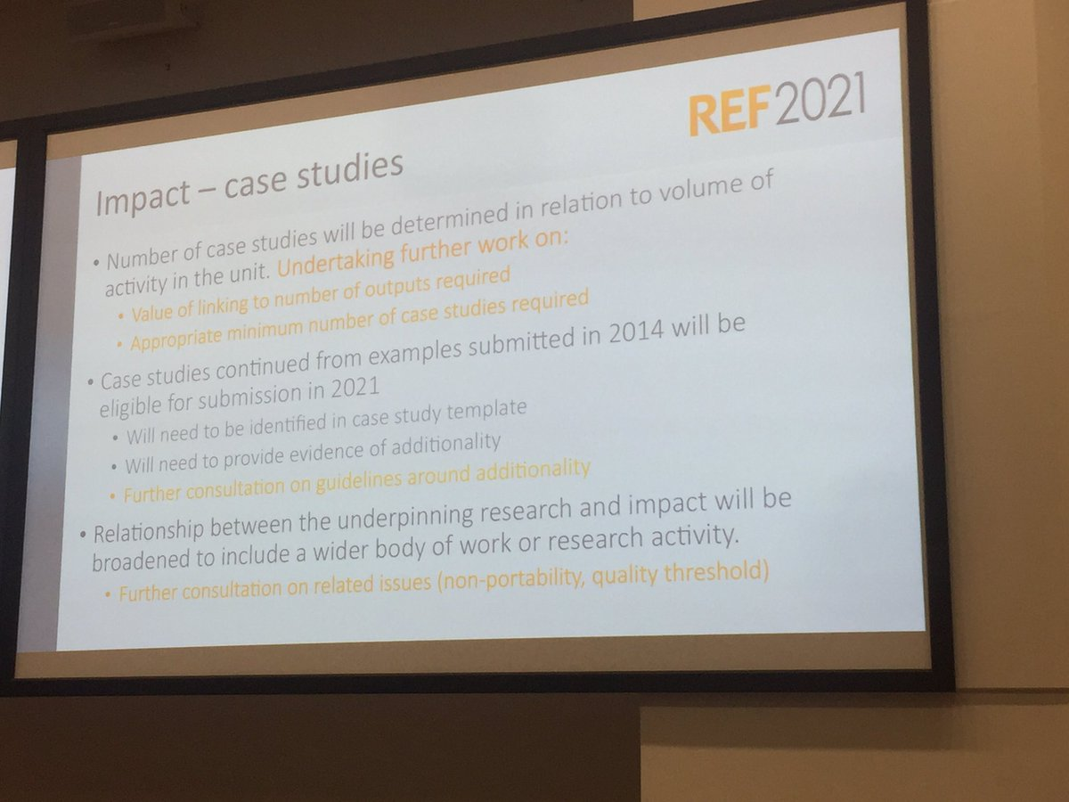 #REF impact case studies can continue from 2014 with additionality, relationship between research and impact to be broadened #EPCCongress17 <br>http://pic.twitter.com/EKqS7HEVFJ