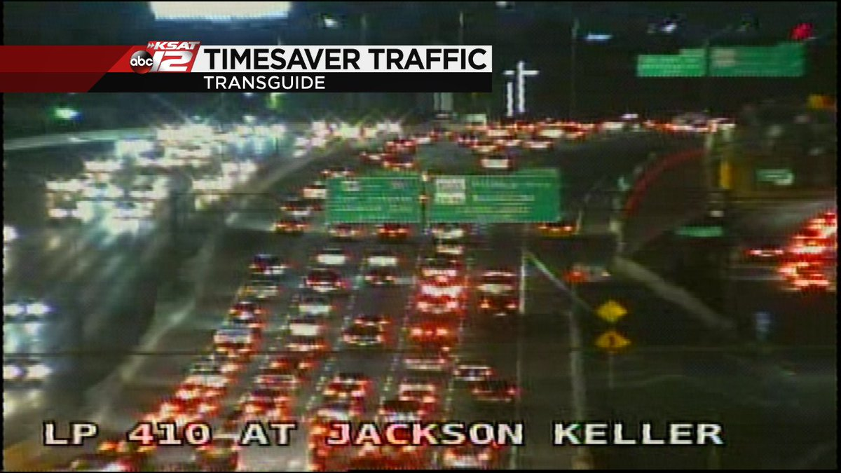 Update Accident EB Loop Jackson Keller cleared Lanes | KSAT