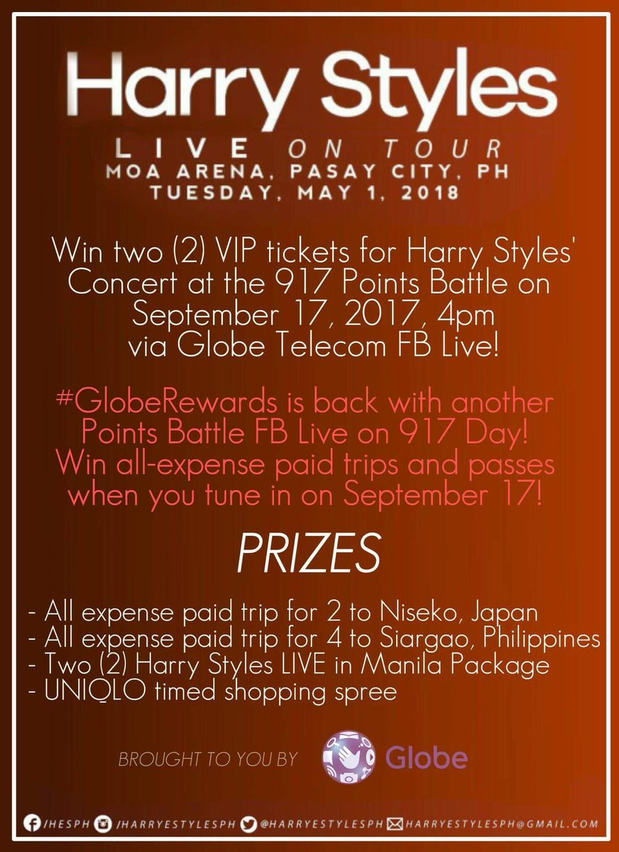 Harry Styles Ph On Twitter Get A Chance To Win Vip Tickets To See