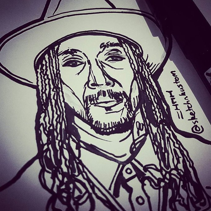 Happy birthday to the Midwest Cowboy Bizzy Bone - a huge influence in my art life!