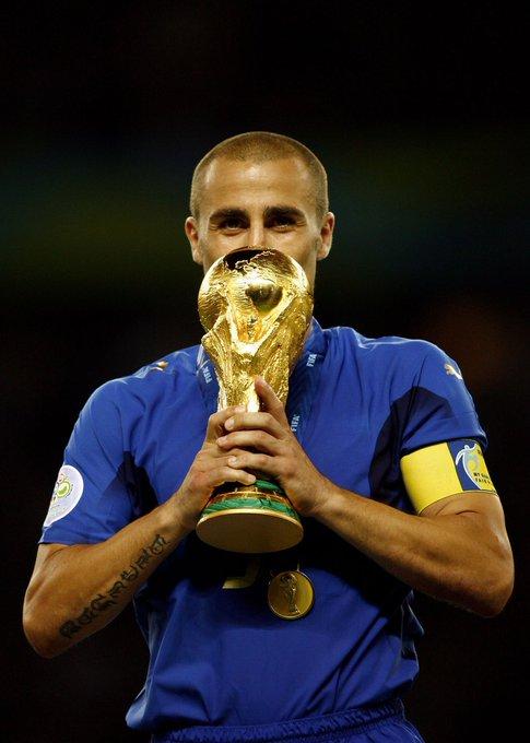 Happy 44th birthday to Fabio Cannavaro World Cup  Serie A  La Liga UEFA Cup   Domestic Cups Ballon d\Or
