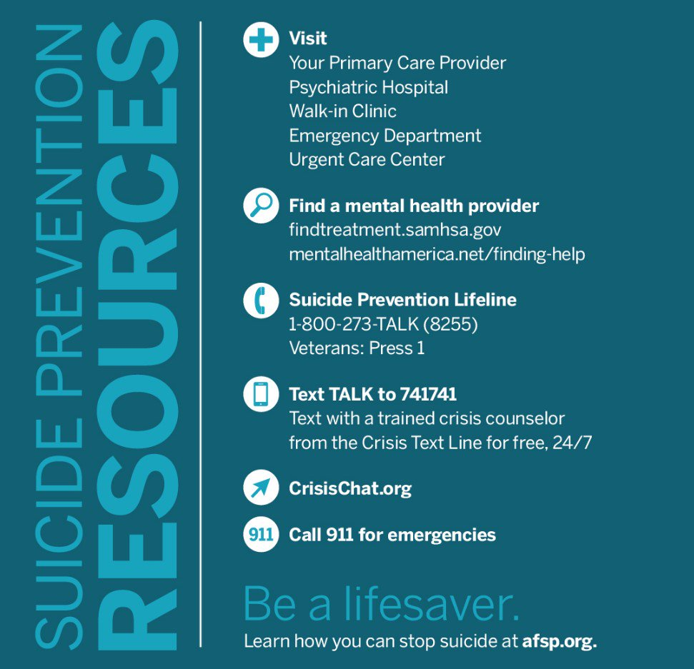 Suicide is preventable. We can #StopSuicide. https://t.co/tFaQck9Arx https://t.co/QcLHHQODyp