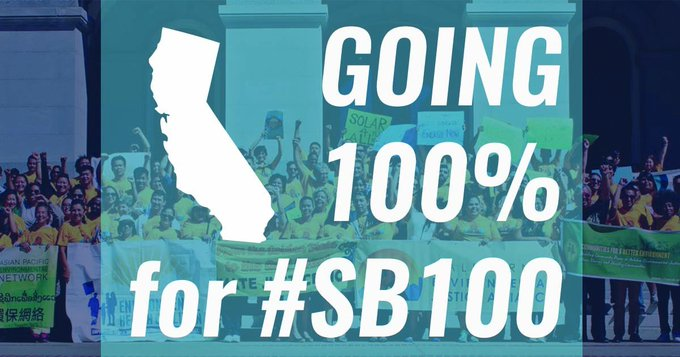 Let's pass #SB100 & get California to 100% clean energy for all. https://t.co/b82fXgJ32l