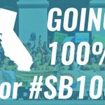 Let's pass #SB100 & get California to 100% clean energy for all.