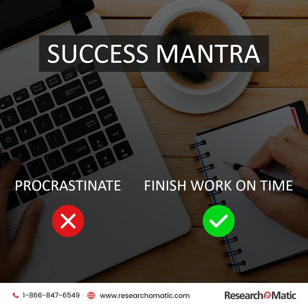 Success Mantra.  #Researchomatic <br>http://pic.twitter.com/aevapyoJJn