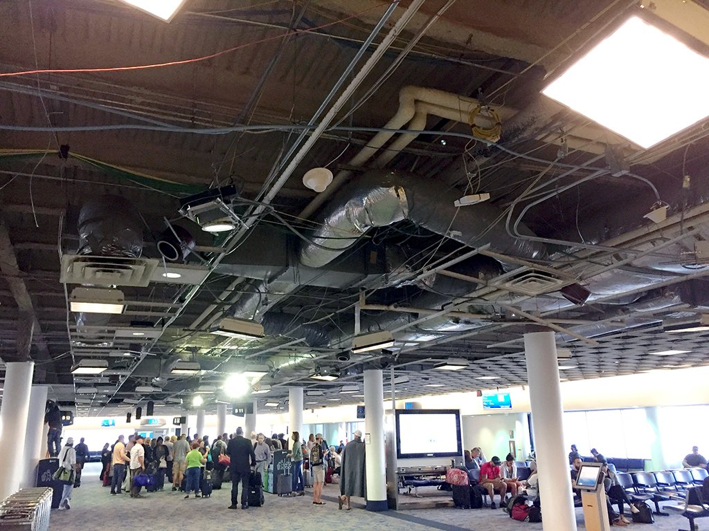 Clt Airport On Twitter Concourse B Renovations Underway