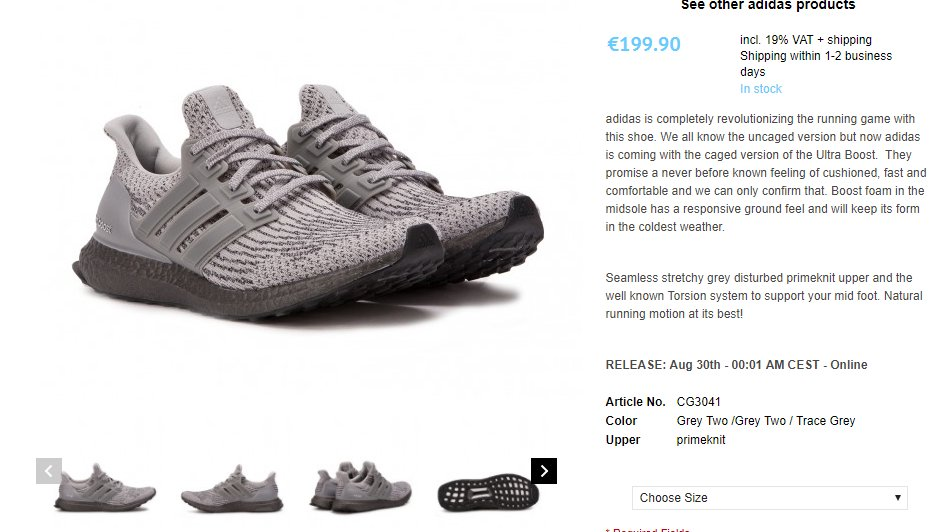 ... order the sole supplier on twitter adidas ultra boost 3.0 triple grey.  restock at allike d3438f70647d