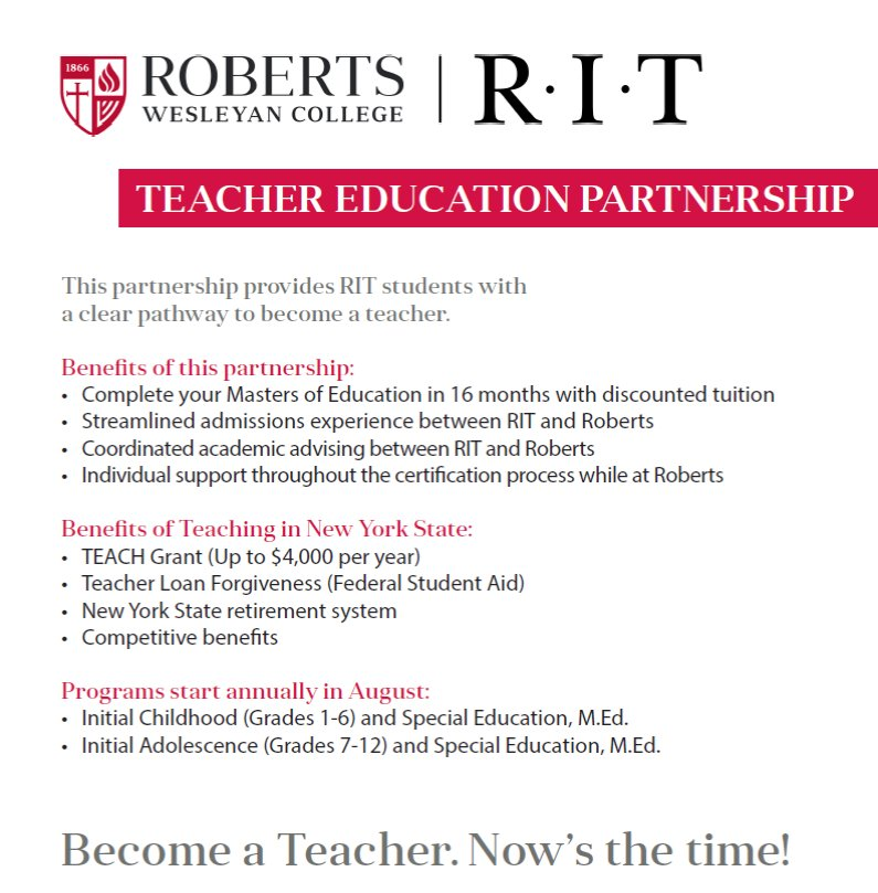 Rit Liberal Arts On Twitter Want To Teach Info Session Tonight 5