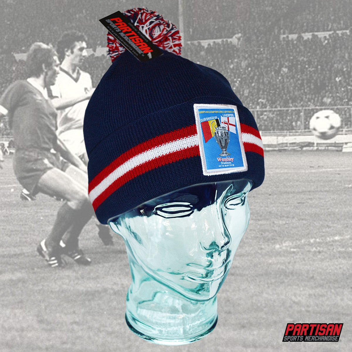 10043f9eab2 Liverpool 2 5  WEMBLEY78 European Cup inspired Bobble Hat by   Partisan Sports online at ...