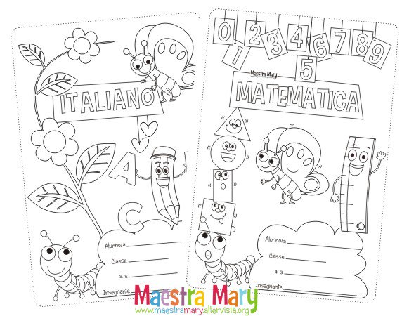 Copertina Quaderno Inglese Da Colorare: Maestra Mary (@MaestraMary1)